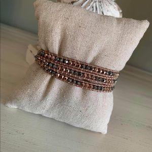 Stella & Dot sparkly Bardot wrap bracelet